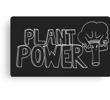 Plant Power- inverted colours Canvas Print