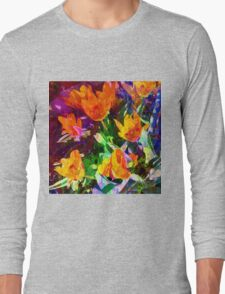 Vintage Country Garden Long Sleeve T-Shirt