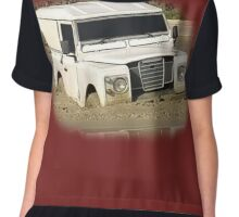 Land Rover Series Mud Chiffon Top