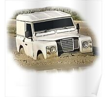 Land Rover Series Mud Poster