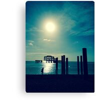 A Walk At West Pier Canvas Print