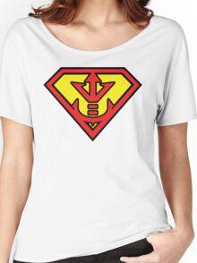Superman vs Royal Saiyan Symbol Women's Relaxed Fit T-Shirt