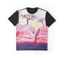 Drawing Day Purple Bonsai Island Graphic T-Shirt
