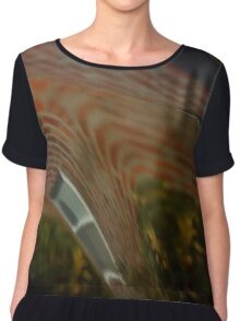 House on Car Abstract Chiffon Top