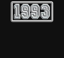 1993, BIRTH DATE,  Number Plate, Year, Birthday, Commemorate, Anniversary, Unisex T-Shirt