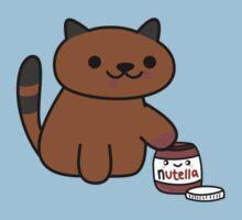 Ganache raiding the Nutella Jar (Neko Atsume) by Iceyuk