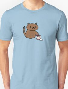 Ganache raiding the Nutella Jar (Neko Atsume) Unisex T-Shirt