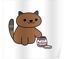 Ganache raiding the Nutella Jar (Neko Atsume) Poster