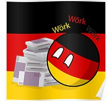 Polandball - Germany doing business  Poster
