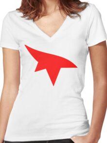 Mirrors Edge Minimalist Logo  Women's Fitted V-Neck T-Shirt