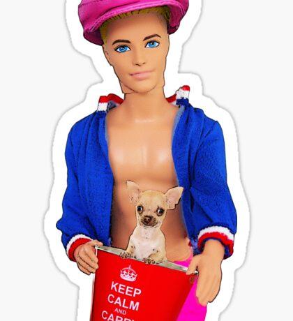 Keep Calm Little Chihuahua! Sticker