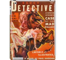 """Saucy Detective"" Vintage Spy Pulp Magazine Cover iPad Case/Skin"