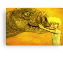 have you hugged your dinosaur today? Canvas Print