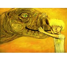 have you hugged your dinosaur today? Photographic Print