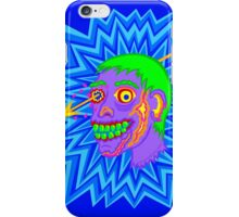 Purple Pop Art Zombie Head Funny Cartoon iPhone Case/Skin