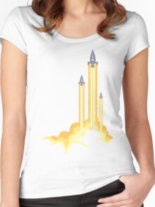 Lift-off! Women's Fitted Scoop T-Shirt