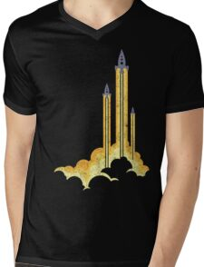 Lift-off! Mens V-Neck T-Shirt