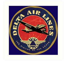 Vintage Delta Airlines sign Art Print