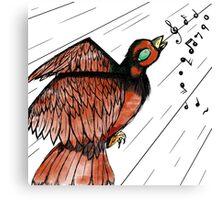 Sing My Little Bird Canvas Print