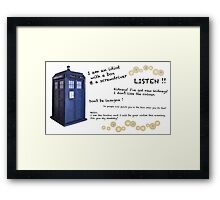 12th Doctor quotes Framed Print