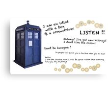 12th Doctor quotes Canvas Print