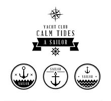 Yacht Club: Calm Tides Photographic Print