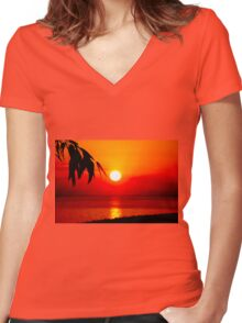 Dawn in the South second series Women's Fitted V-Neck T-Shirt