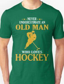 Old Man Loves Hockey Unisex T-Shirt