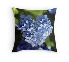 Hydrangea heart... Throw Pillow