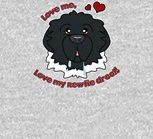 Love My Newfie Drool - Black Landseer Newfoundland Unisex T-Shirt