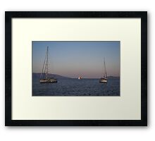 Anchorage In Cephallonia Framed Print