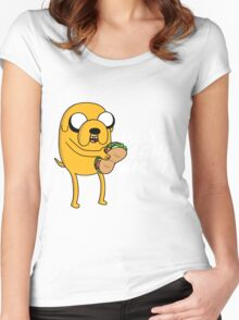 I wish for a sandwich Women's Fitted Scoop T-Shirt