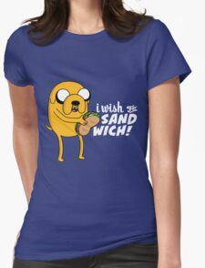I wish for a sandwich Womens Fitted T-Shirt
