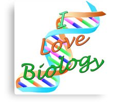 I Love Biology Canvas Print