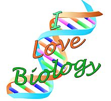 I Love Biology Photographic Print