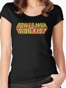 Power Man & Iron Fist - Classic Title - Dirty Women's Fitted Scoop T-Shirt
