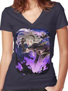 Fire Emblem Fates - Corrin (Dark Blood) Women's Fitted V-Neck T-Shirt