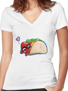 Chimichangas  Women's Fitted V-Neck T-Shirt