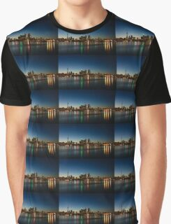 Blue Hour - Toronto's Dazzling Skyline Reflecting in Lake Ontario Graphic T-Shirt