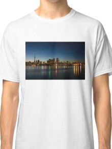 Blue Hour - Toronto's Dazzling Skyline Reflecting in Lake Ontario Classic T-Shirt