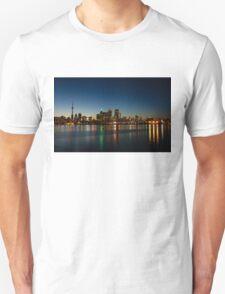 Blue Hour - Toronto's Dazzling Skyline Reflecting in Lake Ontario Unisex T-Shirt