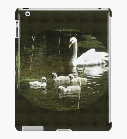 Mother swan and her little ones iPad Case/Skin