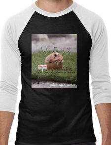 Jake and Amir - We CAN'T LIVE IN A MUFFIN Men's Baseball ¾ T-Shirt