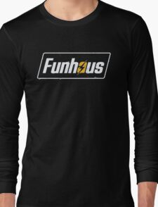 Fallout 4 | Funhous | Logo | Black Background | High Quality! Long Sleeve T-Shirt