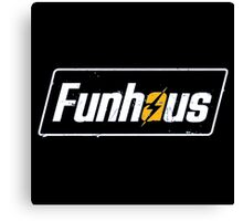 Fallout 4 | Funhous | Logo | Black Background | High Quality! Canvas Print