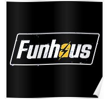 Fallout 4 | Funhous | Logo | Black Background | High Quality! Poster