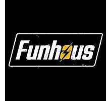Fallout 4 | Funhous | Logo | Black Background | High Quality! Photographic Print