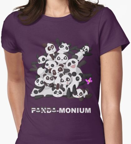 PANDA-monium Womens Fitted T-Shirt