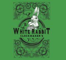 the white rabbit, Alice in Wonderland, clockmaker's, engraving, Baby Tee
