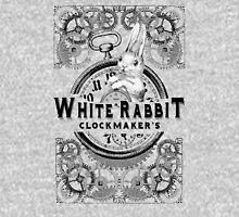 the white rabbit, Alice in Wonderland, clockmaker's, engraving, Unisex T-Shirt